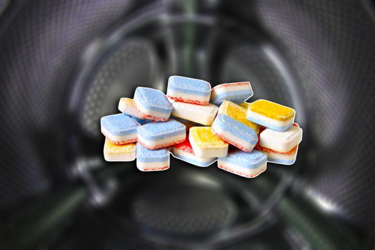 почистване на пералня с таблетки за съдомиялна