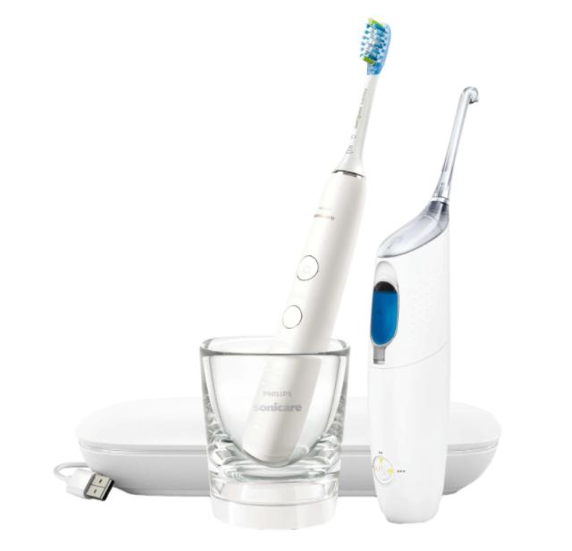 Комплект Airfloss Ultra и четка за зъби Philips Sonicare DiamondClean 9000