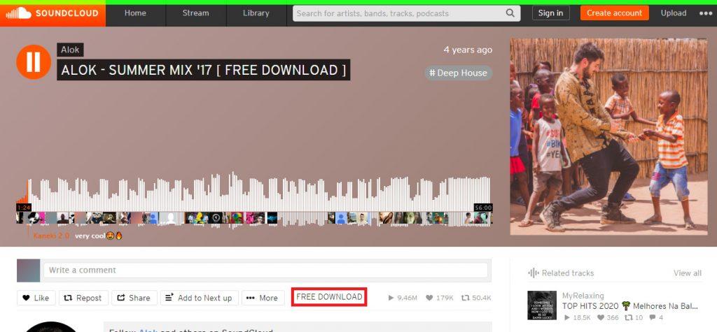 сваляне на музика от Soundcloud