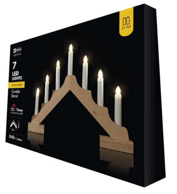 декоративен LED свещник EMOS